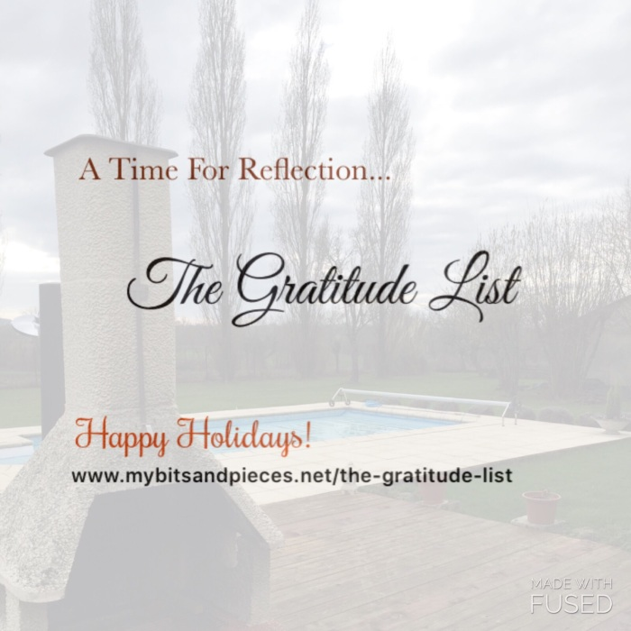 A Time For Reflection… The GratitudeList